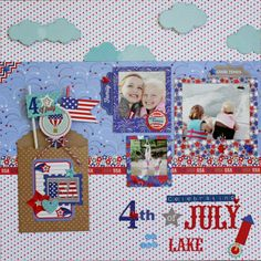 4th of July on the Lake layout using Doodlebug Patriotic Parade by Aimee Kidd