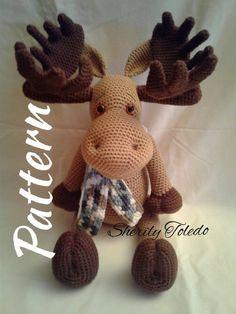 MUSTER - Moses der Elch - Amigurumi Häkelanleitung - Baby - Leads For Amigurumi Crochet Patterns Amigurumi, Amigurumi Doll, Crochet Dolls, Crochet Yarn, Free Crochet, Funny Crochet, Double Crochet, Single Crochet, Häkelanleitung Baby