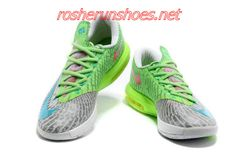 New Cheap Nike Zoom Kevin Durant 4 KD VI Shoes For Sale Chlorine Blue Electric Green Splatter Red Metallic Silver White