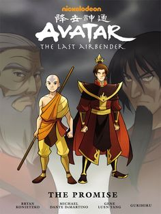 Avatar: The Last Airbender—The Promise Library Edition HC by dark Horse. Every fan of the Air Bender world will enjoy this book. It also helps to serve as a bridge from the ending of the Air Bender series and The Legend of Korra book one. Avatar Aang, Avatar The Last Airbender, Legend Of Aang, American Born Chinese, Darkhorse Comics, Nickelodeon, Team Avatar, Zuko, Dark Horse