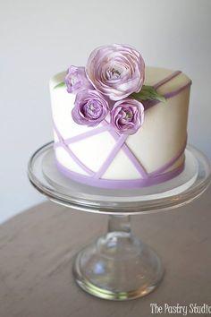 Lavender Ranunculus Little Flower Cake
