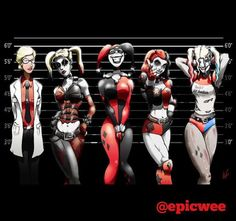 The evolution of Harley Quinn by epicwee