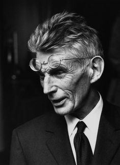 Samuel Beckett, Paris, April 1979 He switched from writing in English to French because fe felt the language was too facile, and that he had become too eloquent in it.