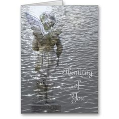 Angel in Water Thinking of you Card