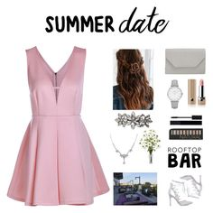 """pink & grey"" by littlelook on Polyvore featuring Marc Jacobs, Forever 21, Gucci, Topshop, Halogen, Urban Outfitters, Dorothy Perkins, 1928, summerdate and rooftopbar"