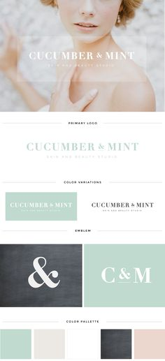 Custom logo for Cucumber & Mint #logodesign #customlogo