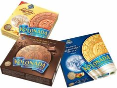 KOLONADA Lazenske oplatky Original Czech Spa Wafers 3 packs mix for sale online