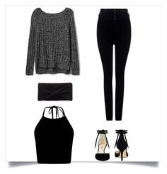 Black and grey by lucydanvers on Polyvore featuring Gap, Citizens of Humanity, Nine West and Reiss