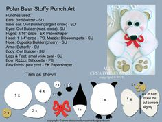 punch art for cards or layouts - Polar Bear