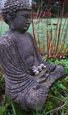 My garden must have a big Buddha like this. Except when Mojo last saw a Buddha like this he barked at it. Gautama Buddha, Buddha Buddhism, Tibetan Buddhism, Zen, Buddhist Wisdom, Taoism, Spiritual Path, Tantra, Yoga Meditation