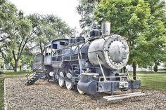 Old Train at Marysville Park in Marysville Michigan.