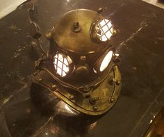 Hey, I found this really awesome Etsy listing at https://www.etsy.com/listing/267836464/nautical-scuba-divers-helmet-lamp