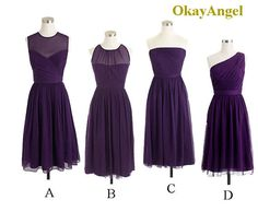 Purple Bridesmaid Dress Tealength Bridesmaid Dress by OkayAngel