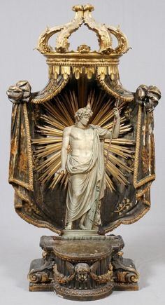 Antique Nicho 218 c Religious Symbols, Religious Art, Catholic Art, Assemblage Art, Sacred Art, Illuminati, Box Art, Oeuvre D'art, Art And Architecture
