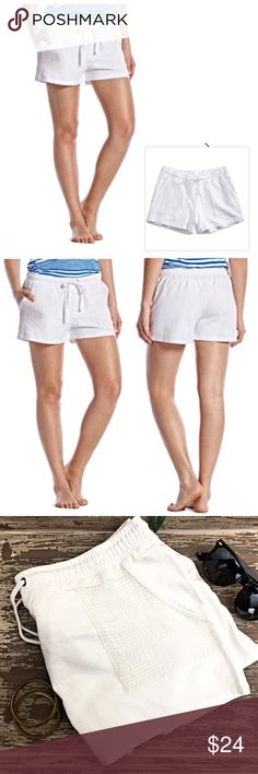 Lucky Brand Lotus Active White Mesh Mixed Shorts Comfy and cute shorts crafted from 100% cotton French terry. Features a drawstring waist, mesh pockets and a pigment dyed finish. approx 3 inch inseam. Brand new with tags! Lucky Brand Shorts