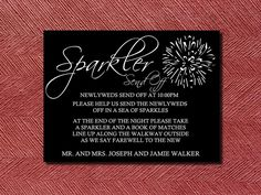 Wedding Sparkler Signs | Custom Designed Wedding Sparkler Send Off Sign or Poster DIY Print ...