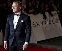 Daniel Craig. I LOVE this Navy Blue version of the classic Tuxedo!