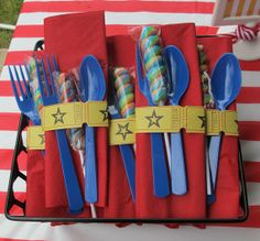 carnival party silverware