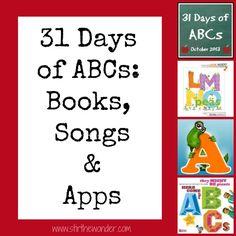 31 Days of ABCs: Books, Songs & Apps - Stir The Wonder