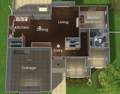 Sims iCad's Simblr Thingy (It's my birthday, so have a present from me to. Sims 4 House Plans, Sims 4 House Building, Home Building Design, House Floor Plans, Loft Floor Plans, Family House Plans, Sims 4 Houses Layout, Tiny House Layout, House Layout Plans