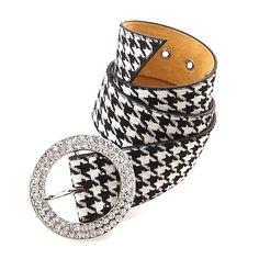Hot in Hollywood Houndstooth and Pavé Belt Hounds Tooth, Houndstooth Dress, Metallic Heels, Coq, White Fashion, Black Shoes, Fashion Accessories, Belt, My Style