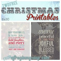 Two Free Christmas Printables