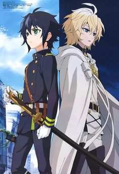 Seraph of the End Yuichiro Hyakuya and Mikaela Hyakuya.
