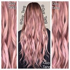 Guy Tang rose gold hair