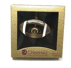 ChemArt AU Auburn University Christmas Ornament Football - War Eagle!