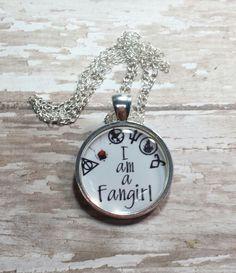Fan Girl.Harry Potter.Twilight.Mockingjay.Percy Jackson.Divergent.Necklace #Pendant