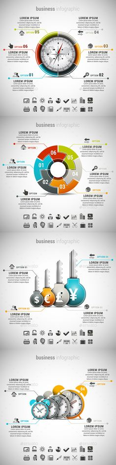 4 in 1 Business Infographics Template PSD, Vector EPS, AI Bundle. Download here: http://graphicriver.net/item/4-in-1-business-infographics-bundle/15099066?ref=ksioks