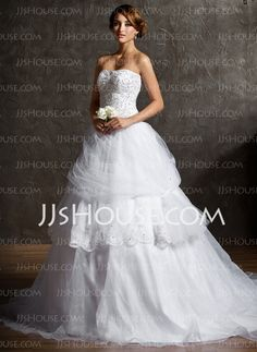 Wedding Dresses - $198.29 - Ball-Gown Sweetheart Chapel Train Organza Satin Tulle Wedding Dress With Ruffle Lace Beadwork Sequins (002011543) http://jjshouse.com/Ball-Gown-Sweetheart-Chapel-Train-Organza-Satin-Tulle-Wedding-Dress-With-Ruffle-Lace-Beadwork-Sequins-002011543-g11543