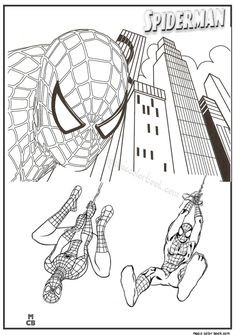 Free Coloring Pages, Coloring Books, Spiderman Coloring, Page Online, Superhero Party, Amazing Spider, Free Printables, Marvel, Crafts