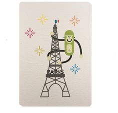 Carte postale à colorier tour Eiffel, collection Paris, Wistiworld | Baby Prestige