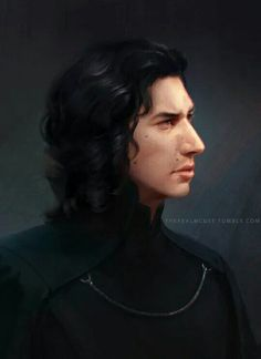 This is amazing! Kylo Ren (Ben Solo? - he does look like a beautiful prince! ) fanart