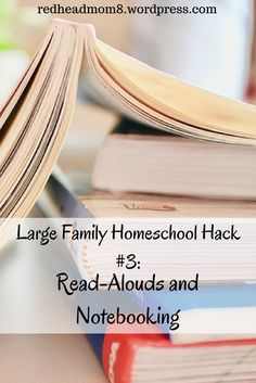 Large Family Homeschool Hack #3: Read-Alouds and Notebooking