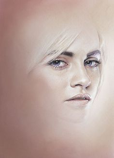 Bec Winnel is a portrait and beauty illustrator based in Australia. Bec enjoys creating imaginary women portraits which are soft, delicate and romantic. Portraits Illustrés, Portraits Pastel, L'art Du Portrait, Pencil Portrait, Female Portrait, Pencil Art, Pencil Drawings, Face Study, Portrait Illustration