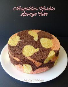 Neapolitan Marble Sponge Cake