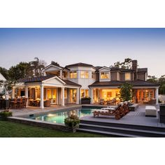 Traditional Home, Palos Verdes Esates - traditional - exterior - los... ❤ liked on Polyvore featuring house, home, casa and rooms