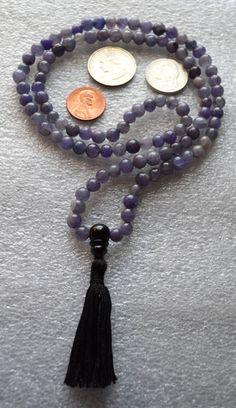 6 mm Purple Jade Prayer Beads Japa Mala Necklace - Buddhist Karma 108+ – AwakenYourKundalini