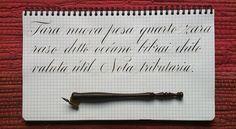 daily exercises - calligraphy by ramiro esponoza, via myfonts.com