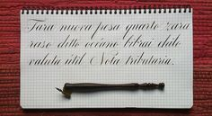Calligraphy practice by Ramiro Espinoza.