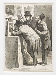 Victor hugo honor daumier 1 caricatures pinterest for Devant le miroir manet