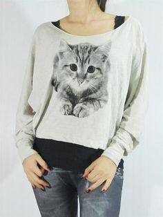 Kitten Cat TShirt Feline Cute Animal Design Art Chic by punkalife, $23.99