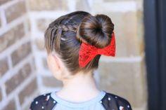 Love Bun | Valentine's Day Hairstyles | Cute Girls Hairstyles