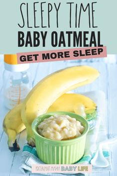 Help baby sleep with this delicious baby food recipe. This oatmeal has lots of g… Help baby sleep with this delicious baby food recipe. This oatmeal has lots of g… – Baby food – Toddler Meals, Kids Meals, Toddler Food, Baby Meals, Healthy Baby Food, Food Baby, Healthy Sleep, 7 Month Old Baby Food, Baby Food Recipes Stage 1
