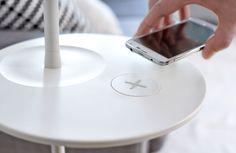 Ikea Homesmart: Kabelloses Aufladen von Smartphones nach Qi-Standard