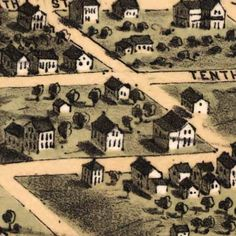 Ruger's #map of Alton, Illinois (1867)