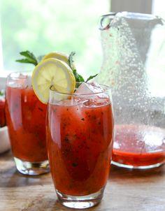 fresh strawberry mint lemonade