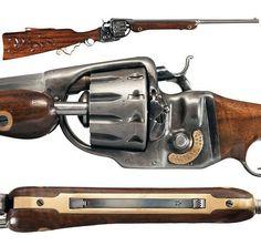 George J. Tibbert 12-shot Revolving Rifle.
